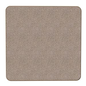 House, Home and More Skid-Resistant Carpet Indoor Area Rug Floor Mat - Pebble Beige - 3 Feet X 3 Feet