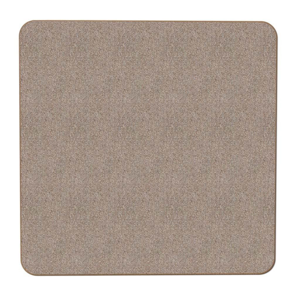 House, Home and More Skid-resistant Carpet Indoor Area Rug Floor Mat - Pebble Beige - 3' X 3' - Many Other Sizes to Choose From