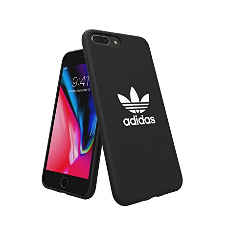 more photos 8cdab 372a3 adidas Originals Adicolor Moulded Case/Cover for Apple iPhone 8 Plus/7  Plus/6S Plus/6 Plus (Black)
