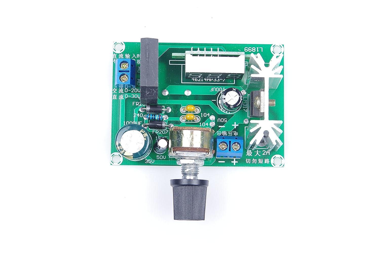 Knacro Led Lm317 Step Down Power Supply Module Driver Circuit Adjustable Voltage Regulator Input Dc 0v 30v Ac 22v Output 125v 2a Electronics