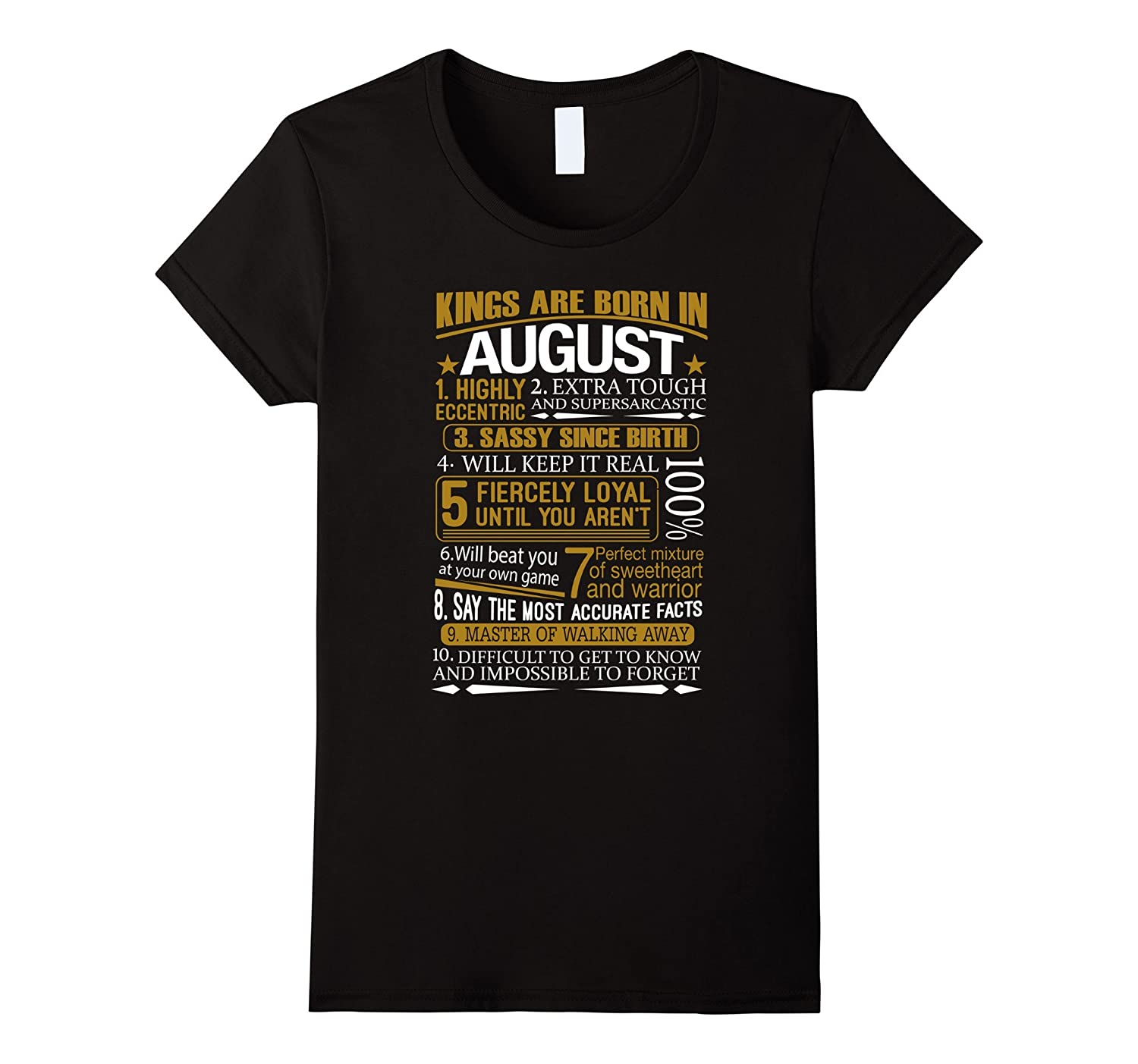 August Funny Birthday T Shirt Medium-Awarplus