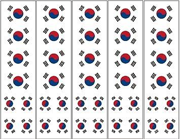 Amazoncom 40 Tattoos South Korean Flag Korea Party Favors