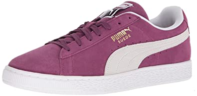 PUMA Suede Classic Sneaker, Grape Kiss White, 13 M US