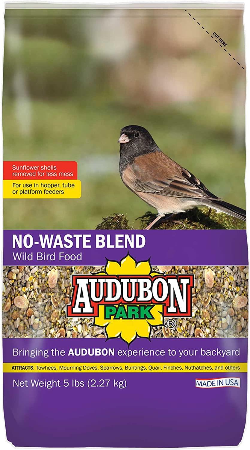 Audubon Park 12228 No-Waste Blend Wild Bird Food, 5-Pound