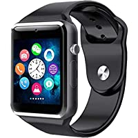 TrendzsMart ™ A1 Smart Watch Bluetooth with Camera and Sim Card Support for All 3G & 4G Compatible Android/iOS Smartphones (Black/Gun Metal) for Men Women Teens