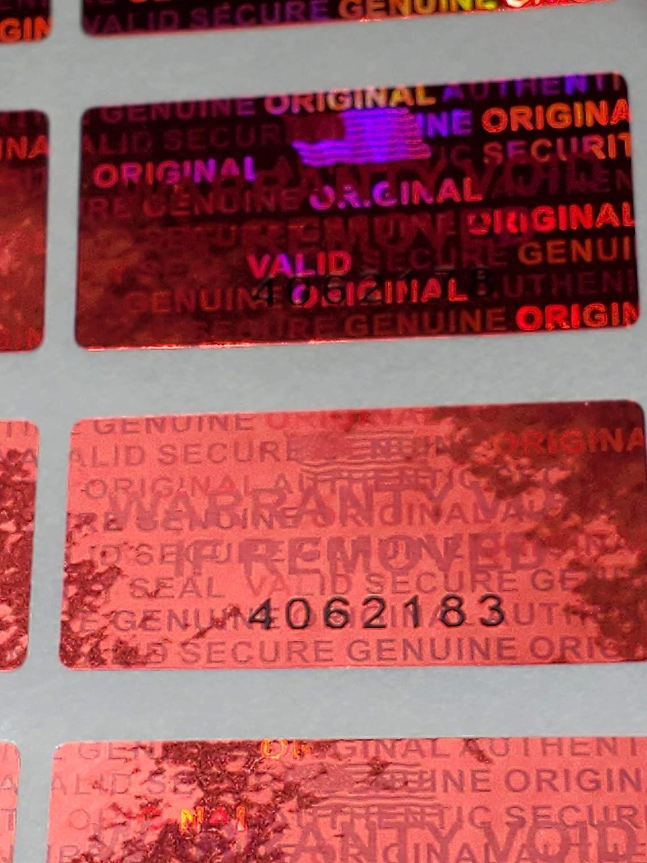 Dealimax Brand Golden 1000 Security Seal Hologram Tamper Evident Warranty Labels Stickers 15 mm x 30 mm