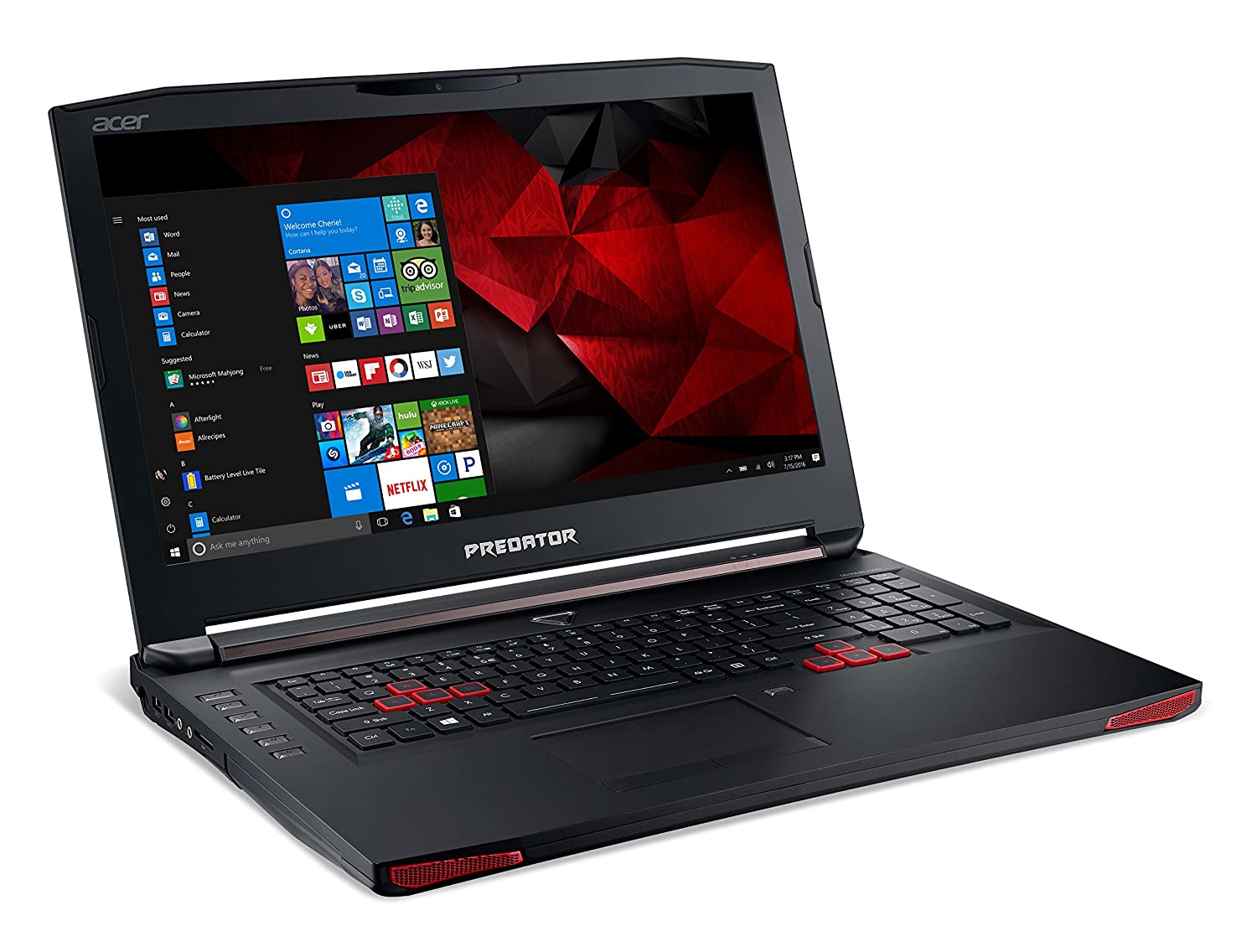 "Acer Predator 17 Gaming Laptop, Core i7, GeForce GTX 1060, 17.3"" Full HD, 16GB DDR4, 256GB SSD, 1TB HDD, G5-793-73NZ"