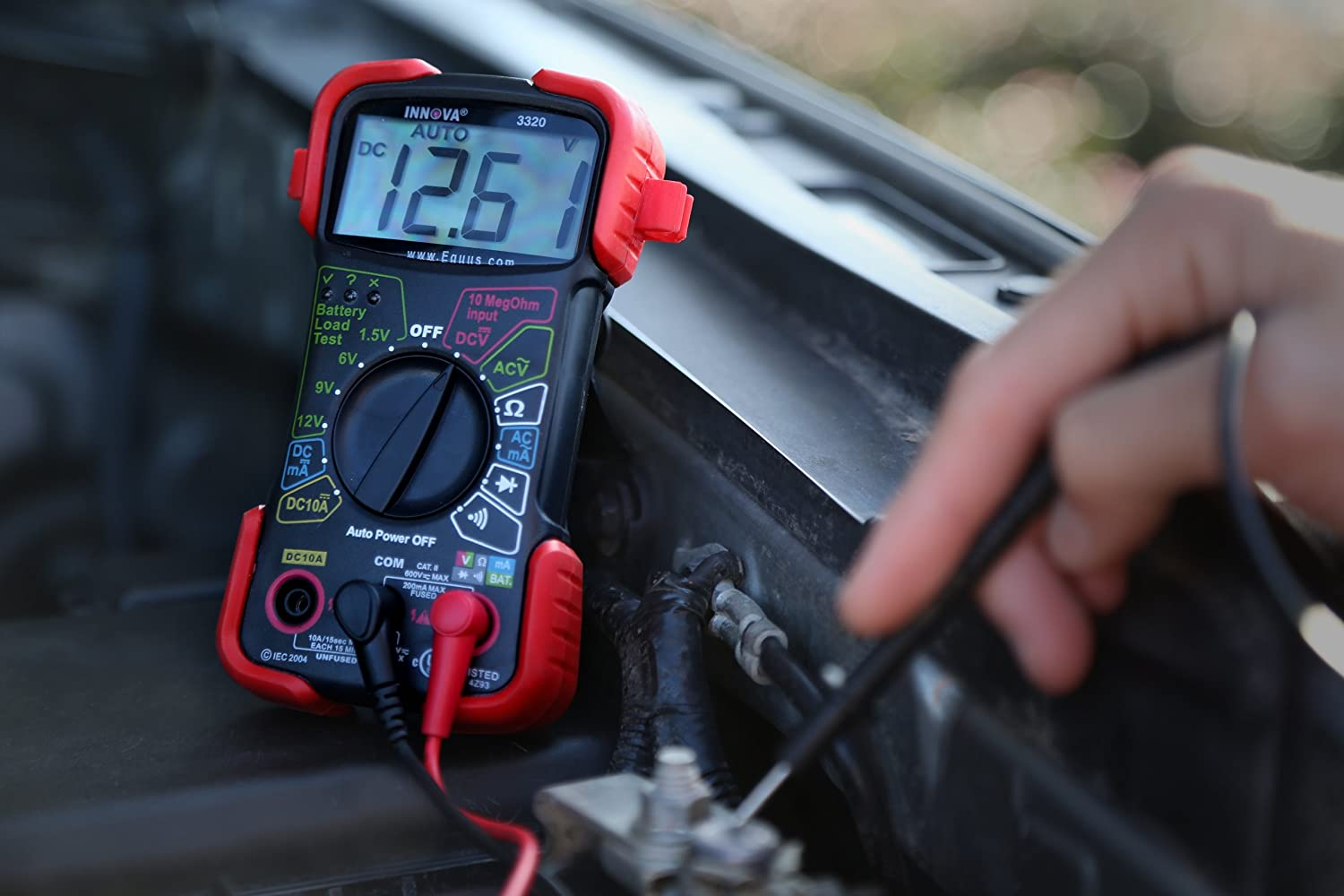 Innova 3320 Auto Ranging Digital Multimeter Automotive Battery Load Test Electronics And Electrical Engineering Design