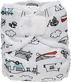 product image for Thirsties Duo Wrap Cloth Diaper Cover, Hook and Loop Closure, Happy Camper Size One (6-18 lbs)