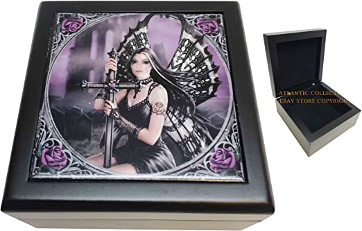 Nemesis Now SPELLBOUND DRAGON /& DARK FAIRY Designer Decorative Art Tile Fantasy