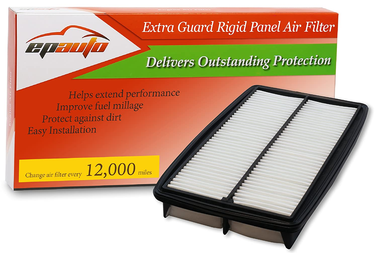Amazon.com: EPAuto GP013 (CA10013) Honda/Acura Replacement Extra Guard  Rigid Panel Engine Air Filter for Odyssey (2005-2010), Pilot (2009-2015),  ...
