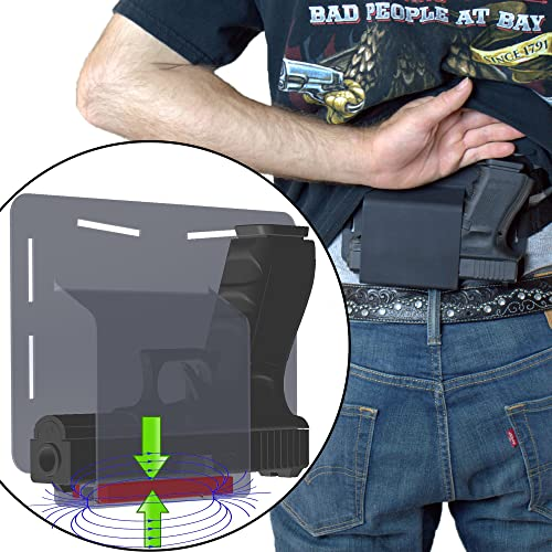 FreedomTactical Magnetic Retention Comfortable Concealed Carry Bellyband Style Gun Holster Got-Your-Back Holster Fits Glock 19 23 38 25 32 26 27 29 30 39 28...