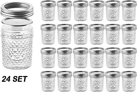 Amazon.com: Nellam - Tarros de cristal con tapa acolchados ...