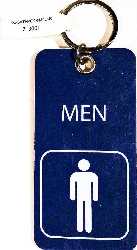 Llavero con anillo, para hombre baño con símbolo, azul ...