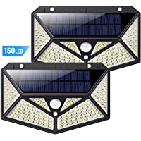 Luz Solar Exterior 150 LED, kilponen [Versión Innovadora