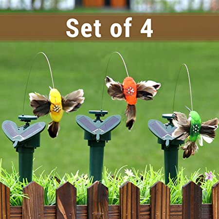 TIED RIBBONS Solar Powered Garden Stakes, Humming Bird Garden Waterproof for Outdoor Pathway Lawn Yard Patio