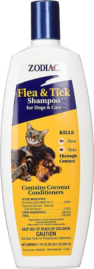 Zodiac pulgas y garrapatas Champú para Perros y Gatos, 500 ml: Amazon.es: Productos para mascotas