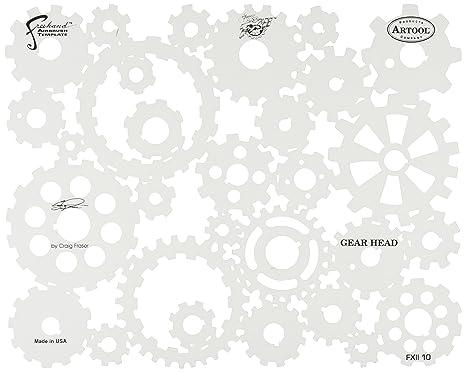 Amazon.com: Artool Freehand Airbrush Templates, Gear Head: Toys & Games