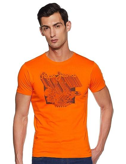 Buy Pepe Jeans Men S Printed Slim Fit T Shirt At Amazon In