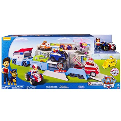 Unbranded New Paw Patrol Paw Patroller Transporter Truck Hauler Includes Ryder Playset: Toys & Games