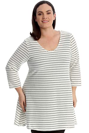e33c76a6453 Nouvelle Collection. Womens Plus Size Top Textured Marl Effect Swing ...