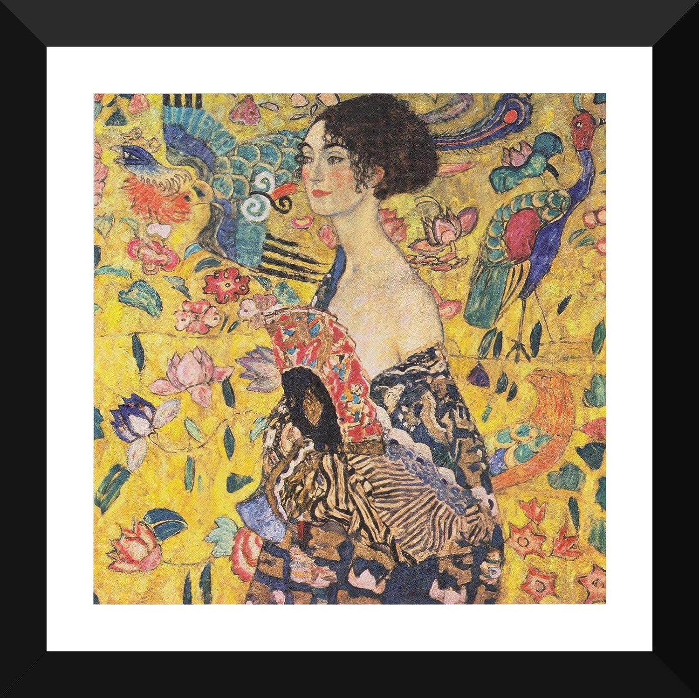 ART PRINT Lady with Fan by Gustav Klimt 14x11 Poster