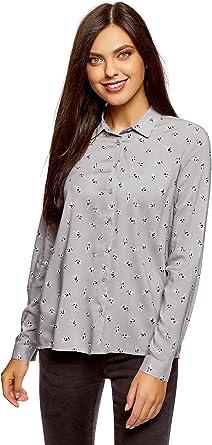 oodji Ultra Mujer Blusa de Viscosa Estampada: Amazon.es: Ropa y accesorios