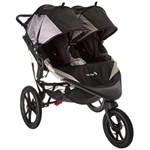 Baby Jogger Summit X3 Double Jogging Stroller - Black/Gray