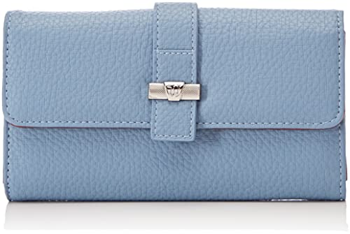 Trussardi Jeans - Suzanne Ecoleather Smooth Wallet, Carteras Mujer, Azul (Light Blue)