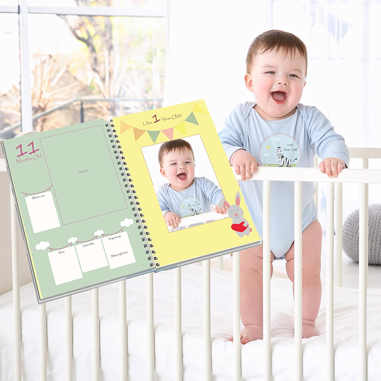 Baby First Milestone Stickers – Gender Neutral First Year/