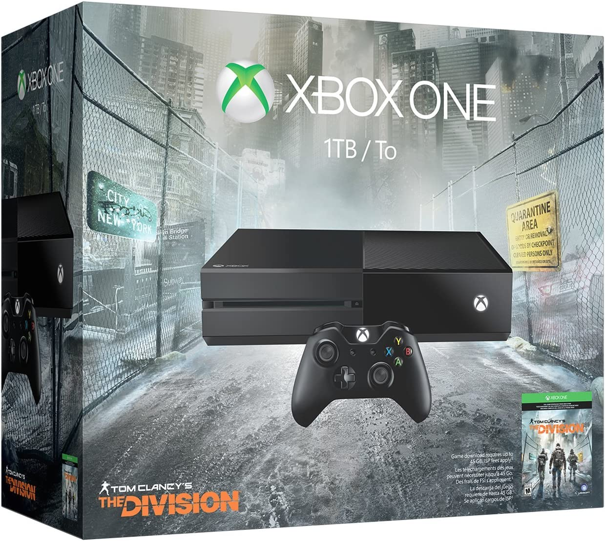 Amazon com: Xbox One 1TB Console - Tom Clancy's The Division Bundle