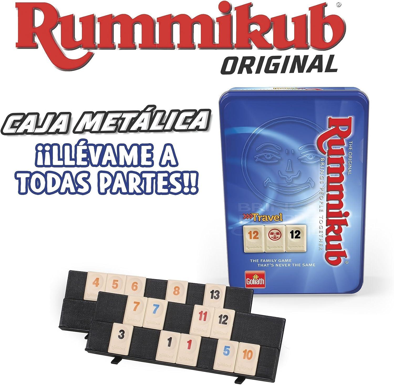Goliath - Juego Rummikub de Viaje en Caja Metálica, Juego de Mesa (50105212): Amazon.es: Juguetes y juegos