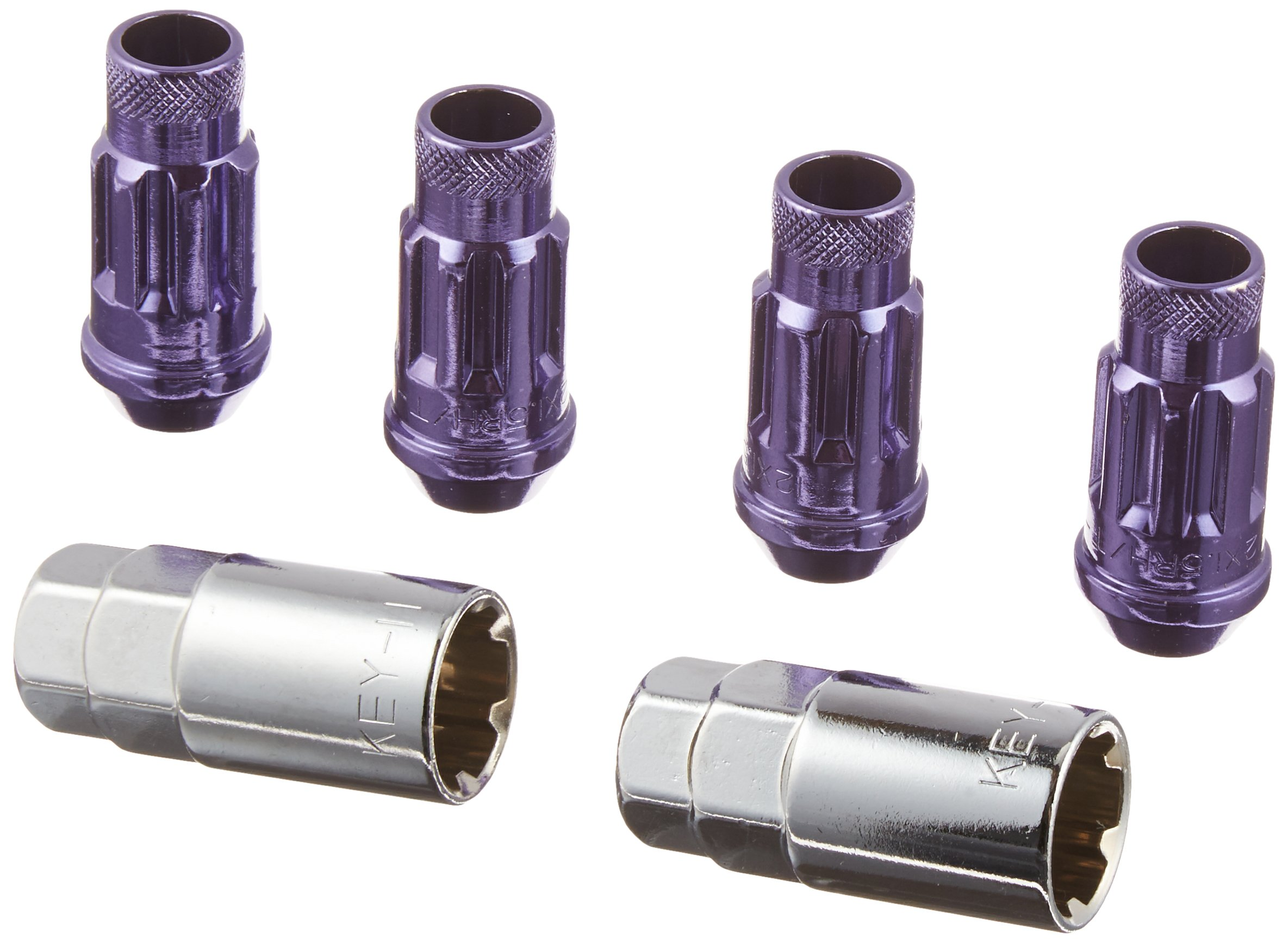 Muteki 32902L Purple 12mm x 1.5mm SR48 Open End Locking Lug Nut Set