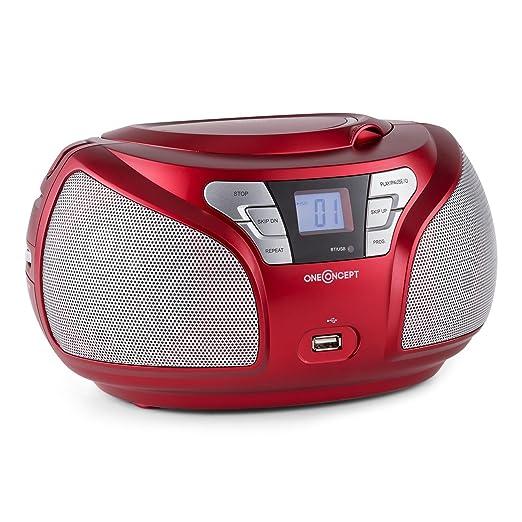 16 opinioni per oneConcept Groovie Radio Boombox stereo portatile con lettore CD e bluetooth