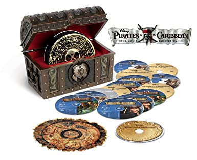 Amazoncom Pirates Of The Caribbean Four Movie Collection Blu Ray