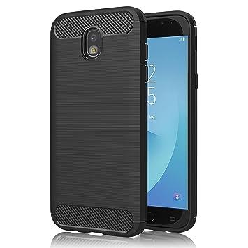 Funda Samsung Galaxy J5 2017, GeeRic Negro Silicona Fundas para Samsung Galaxy J5 2017 J530 Carcasa Fibra de Carbono Funda Samsung J5 2017 Case Cover ...