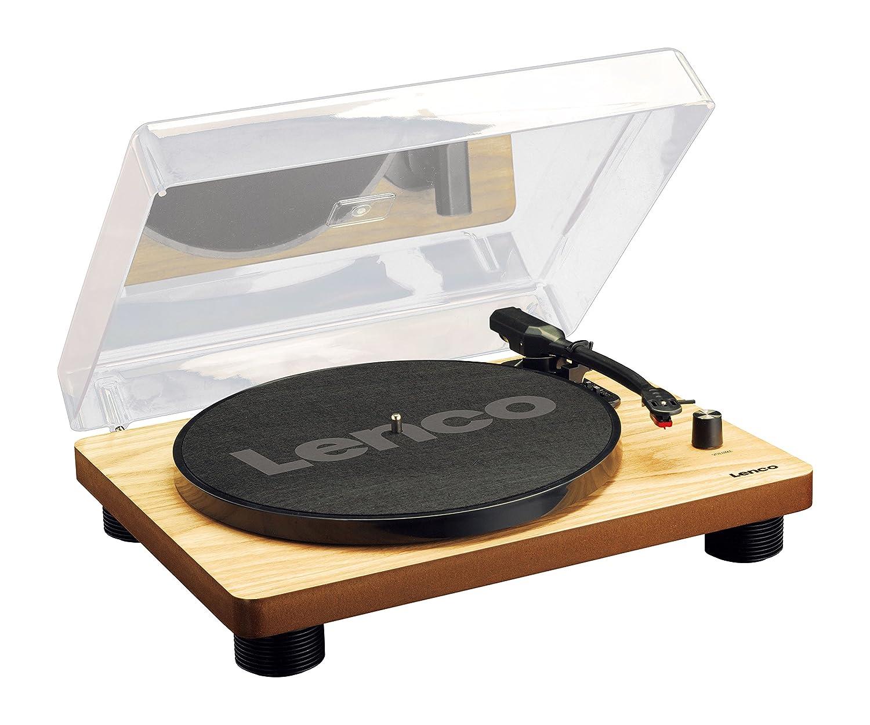 Lenco ls 50 tourne disque avec bo tier en bois et haut - Tourne disque avec haut parleur integre ...
