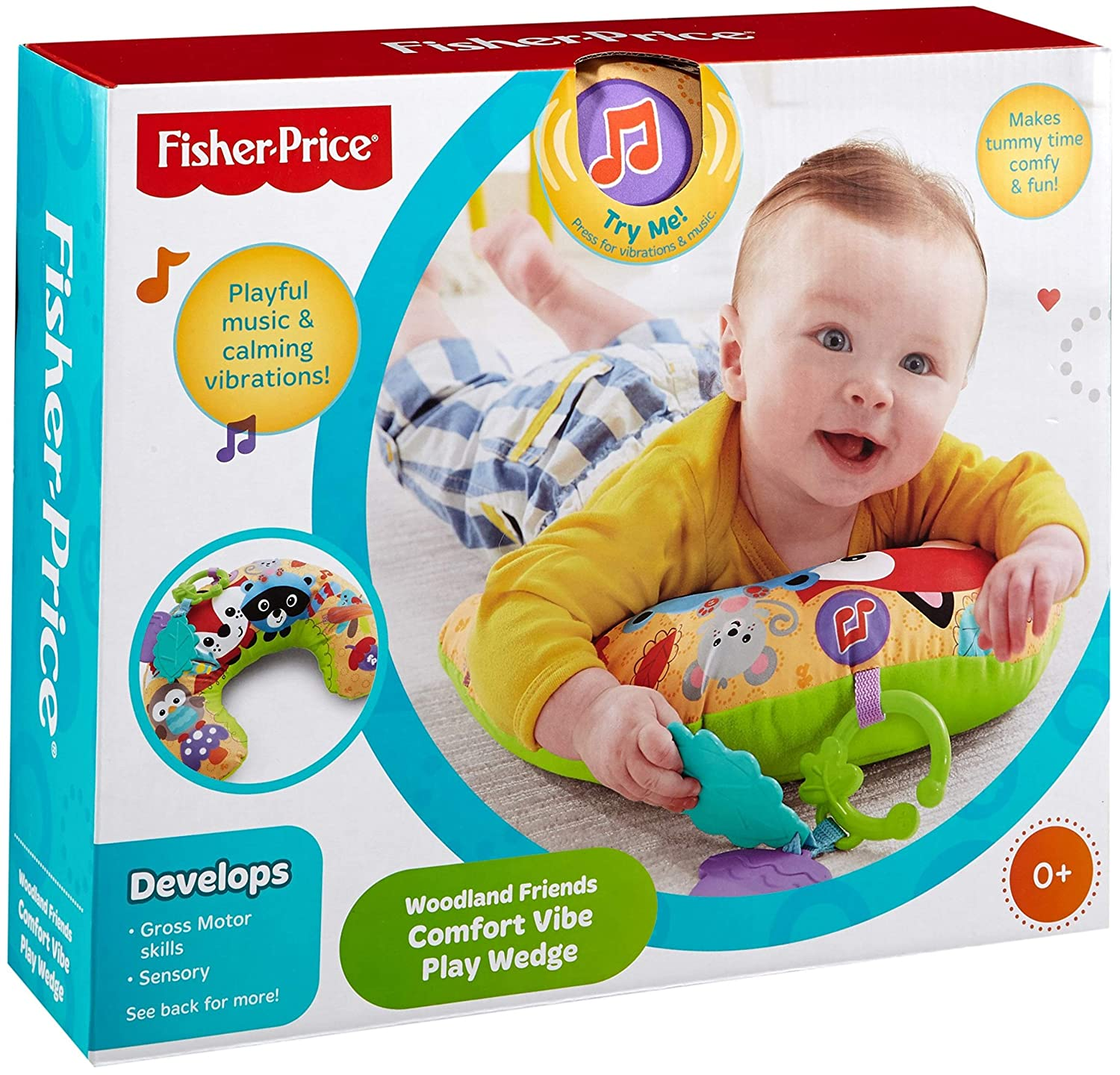 Fisher-Price - Almohadilla de media luna bosque, bebé +0 meses (Mattel CDN50)