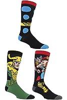 SockShop Mens 3 paires Marvel Thor et Loki chaussettes en coton