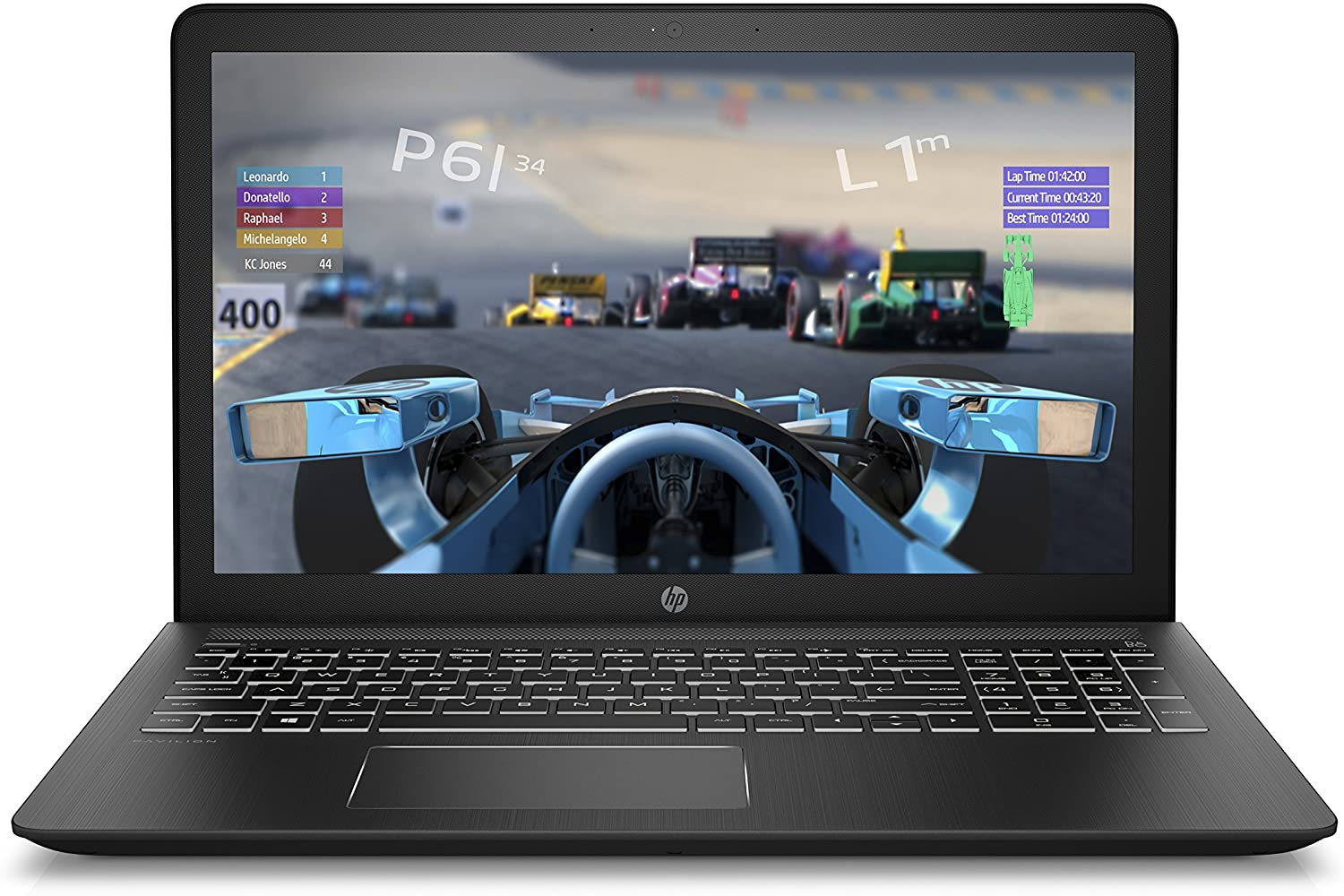HP Pavilion Power 15-inch Laptop, Intel Core i7-7700HQ , AMD Radeon RX 550, 12GB RAM, 1TB hard drive, Windows 10 (15-cb071nr, Black), Gaming