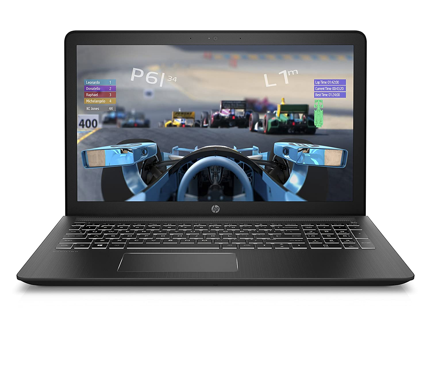"HP Pavilion Power 15"" IPSGeForce GTX 1050 Ti Gaming Laptop, Intel Quad Core i7-7700HQ Processor, 16GB RAM, 1TB hard drive, 128GB solid-state drive, Windows 10 64 bit home (15-cb079nr, Black"