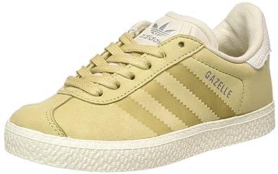 adidas Gazelle Fashion, Sneakers Basses Mixte Enfant, Marron (Linen Khaki/Clear Brown