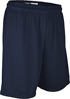 """product image for Game Gear Youth Boy's and Girl's 7"""" Light Weight, Athletic Cross Training Short-Basketball, Football, Running, Soccer, Tennis, and Other High Performance Sports Navy"""