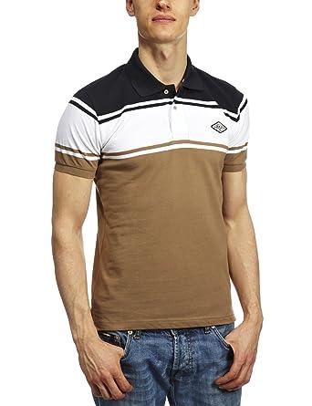 Replay m3687.000.20620 Polo camiseta para hombre brown/navy/white ...