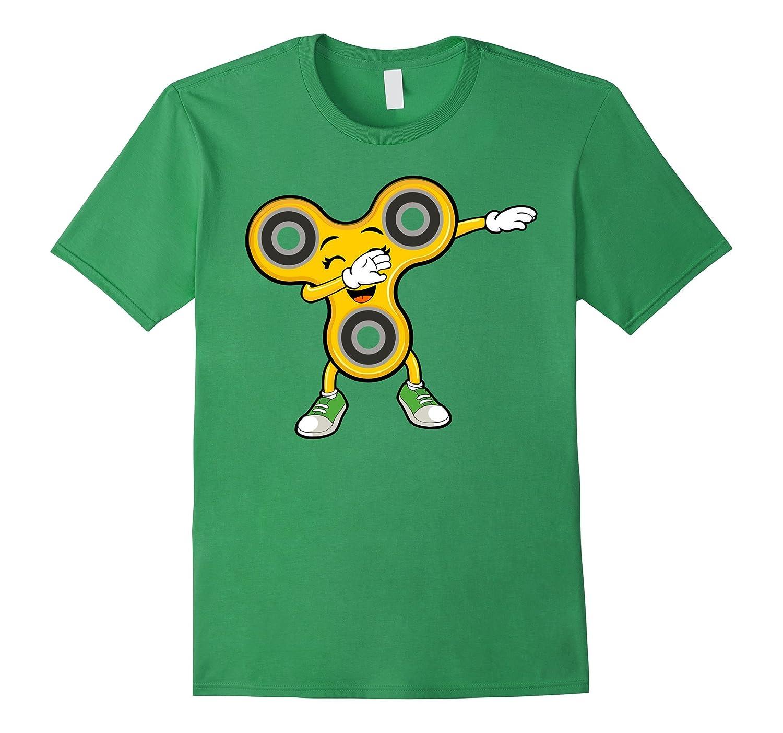 Dabbing Cute Yellow Fidget Spinner Dab Dance Kids T-Shirt-CL