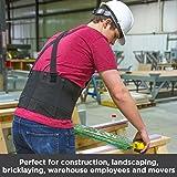BraceAbility Industrial Work Back Brace | Removable