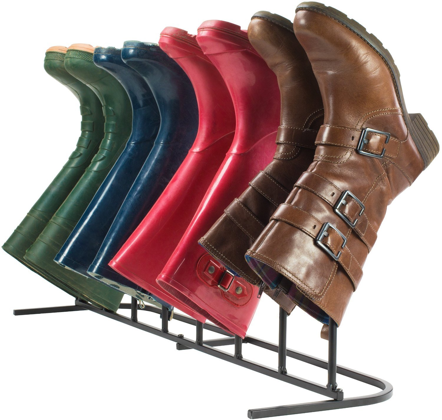 """Boot Rack ,Boot Organizer:""""Eagle iRoot"""" Creative Indoor/Outdoor Wrought Iron Boot Rack Stand , Elegant & Steady Boot Organizer - Perfect for Storing & Drying .Compact Size Allows for Unobtrusive and Portable Storage of Your Boots. No More Tripping Ove by Eastern Cloud (Image #7)"""