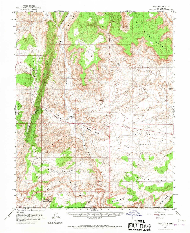 Amazon.com: YellowMaps Paria UT topo map, 1:62500 Scale, 15 X 15 ...