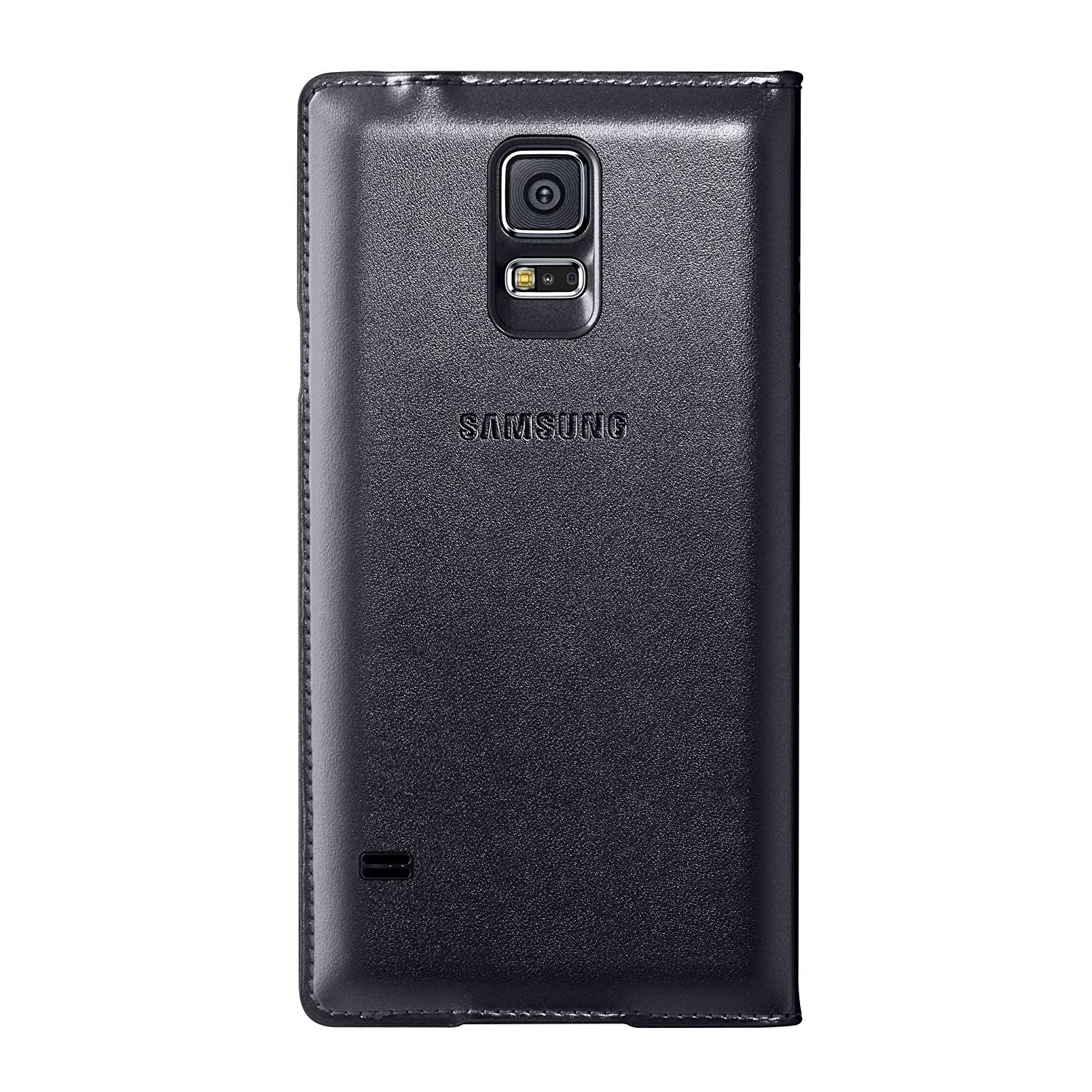 best website 62bf3 d2765 Samsung Galaxy S5 Case S View Flip Cover Folio, Black (Bulk Packaging)