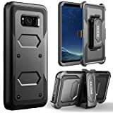 Galaxy S8 Plus Case, KASEMI Heavy Duty Dual Layer Protection Locking Belt Swivel Clip Holster with Kickstand Case for Samsung Galaxy S8 Plus (2017)-Black